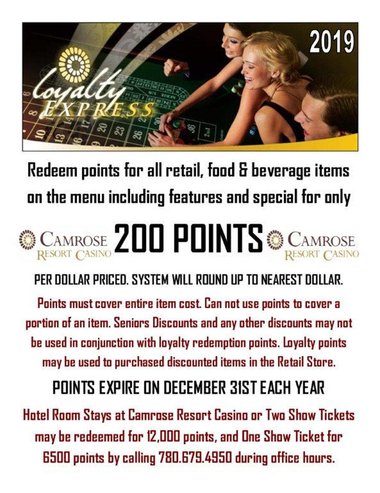Our Casino | Hotel Camrose Resort and Casino